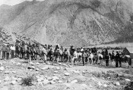 """Governor Seymour addressing a group of Indians at Lillooet."""