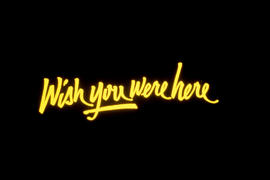 """Wish You Were Here"" Logo"