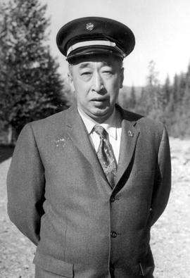Mr. W.M. Hong of Wells, BC; chief of the Barkerville fire brigade from 1948 to 1962.