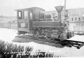 """CN Railway construction engine, Prince George, B.C."""