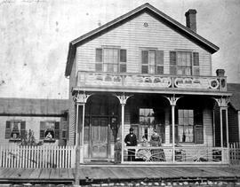 William G. Bowman and family at his residence at 57 Yates Street, Victoria.