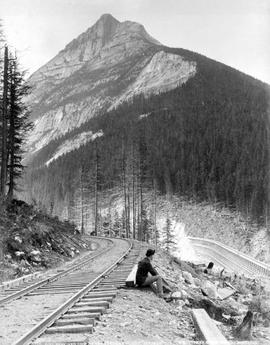 Ross Peak and loop on the Canadian Pacific Railway; Illecillewaet Valley; Notman no. 2119.