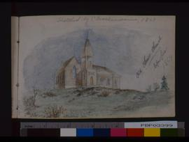 Old Christ Church Before Fire, 1869.