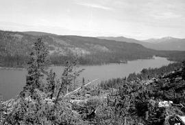 Lower end of Thutade Lake from Bar Butte.