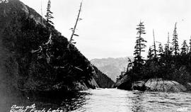 """Foch Lake, showing outlet, elevation 1400 feet, location Foch Creek draining Foch Lake flow..."