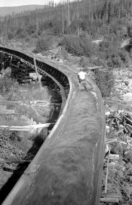 Canadian Pacific Railway Flume Yahk Tie Reserve