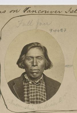 Full face.  Nincumshin Indian B.C.