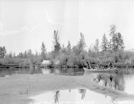 Camp at the head of the northwest arm of Tatla Lake.