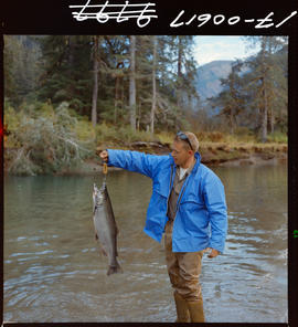 Coho fishing on Khyex River