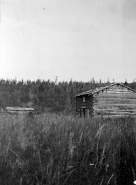 The deserted Hudson's Bay Company trading post at Hudson's Hope.