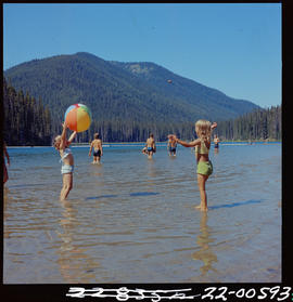 Children Playing At A Lake In Manning Park