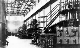 South Slocan interior of powerhouse, West Kootenay Power and Light Co.