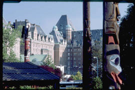 Totem Poles And Empress Hotel Victoria