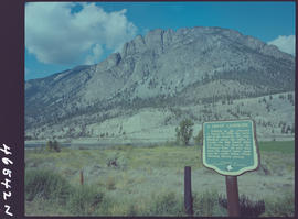 """A Great Landslide"" Stop of Interest sign at Spences Bridge"