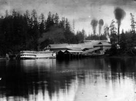 Canadian Pacific Railway steamer 'Charmer'; at Todd Inlet cement plant, four years afte...