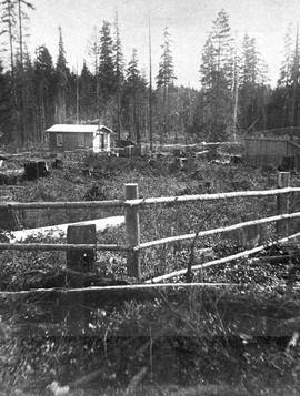 Tom Browne's first farm at Hilliers, near Qualicum Beach.
