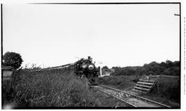4-6-0 Esquimalt and Nanaimo [E & N] No. 462, 3/4 right. On passenger. Lower part of train obs...