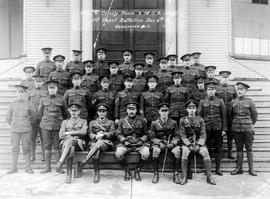 """O.C. and Orderly Room & M.S.A. Staff.  First Depot Battalion.  Dec. 6th 1918 Vancouver ..."
