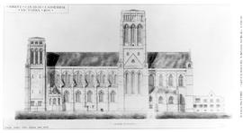 Architechtural drawing; Christ Church Cathedral; Victoria.
