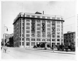 Belmont Building, northeast corner of Government and Humboldt Streets, Victoria; Union Club, far ...