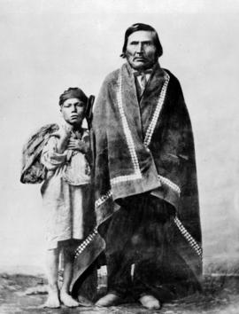 Father and son from the Queen Charlotte Islands.