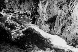 Gorge below Salmon House, Dean River