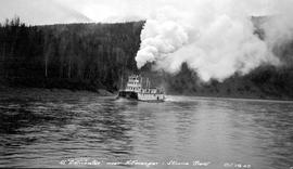 The SS Distributor near Kitwanga, Skeena River.