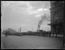 Troops en route to Union Station, Vancouver