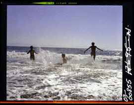 China Beach. Children And Surf