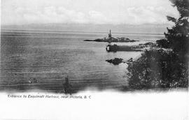 """Entrance to Esquimalt Harbour, near Victoria, BC""; Fisgard light in the distance."