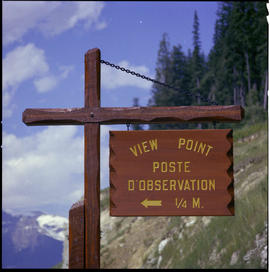 View Point Sign, Yoho National Park