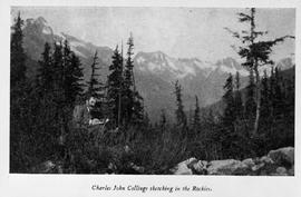 """Charles John Collings sketching in the Rockies."""