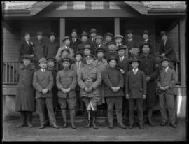 William Head camp commandant with Chinese labourers