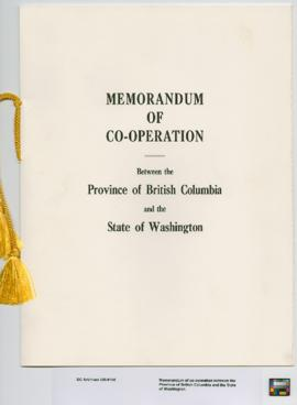 Memorandum of co-operation between the Province of British Columbia and the State of Washington