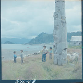 Indian Children At Play, Skidegate Queen Charlotte Islands