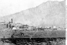 Indian Village Cowichan.  Vancouver Island (east coast).  No. 104.
