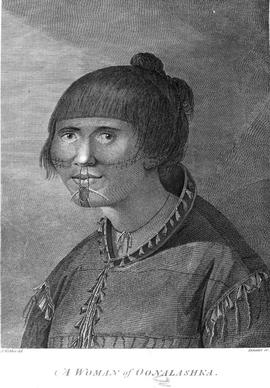 """A Woman of Oonalaska"" from the Voyages of Captain Cook"