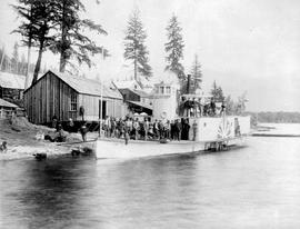 Steamer SS Lady Dufferin At Eagle Pass Landing