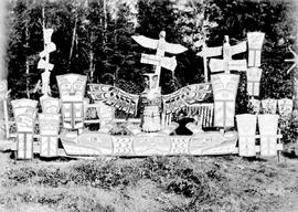 Indian graves at Alert Bay, BC.