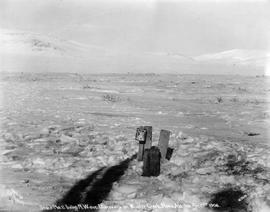 """Stake No. 2 being N.W. corner Discovery on Wonder Creek, Nome, Alaska, April 13, 1906."""