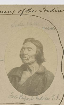 Side face.  Fort Rupert Indian. V.I. [Vancouver Island]