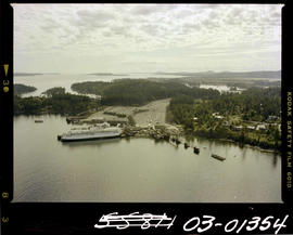 Aerial Of BC Government Ferry Swartz Bay