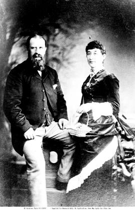 Mr. and Mrs. William Pinchbeck, first settlers at Williams Lake.