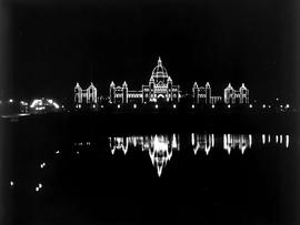 Night Scene At The Legislative Buildings, Victoria