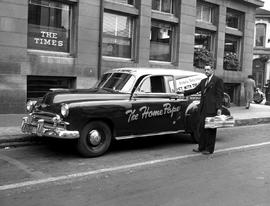 Daily Times Delivery Vehicle, Outside The Times Building On Broad Street, Victoria.