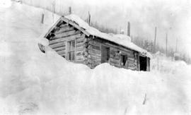 Bachelor Cabin In Three Forks In Winter