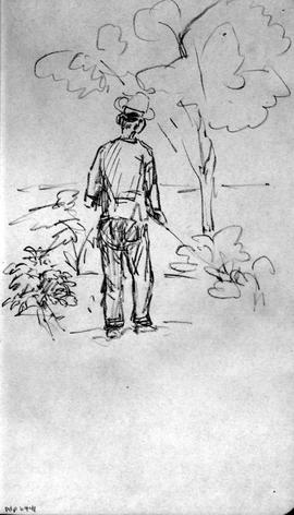 [Man In Garden At Ince?]