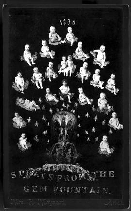 """Sprays from the Gem Fountain""; composite photo of infants, box 14, file 465."