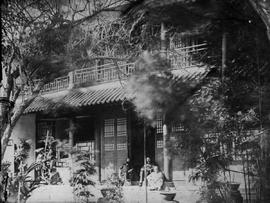 [Canton, China] 8)  Capt. Martineau's house, the man on the right is another officer, on the...