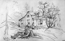 Galletly's - Prospect Lake  [Showing Exterior Of House And People]